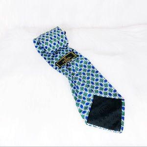 FENDI Geometric Pop Art Silk Neck Tie